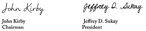 John Kirby and Jeffrey Sukay Signature